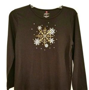 Mercer Street Studios beaded snowflake top